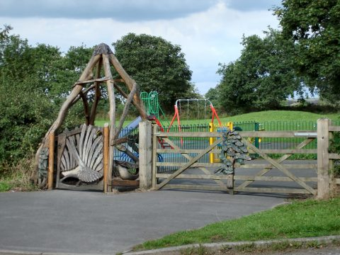 The Goose Gate at the Play Area on Booth Bed Lane