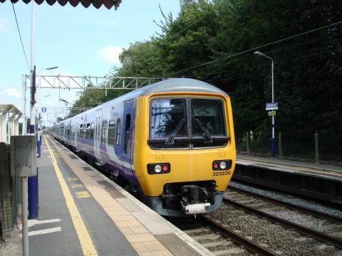 Northern Rail train at Goostrey Station