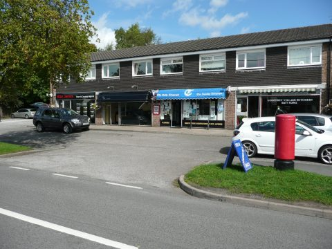 The parade of shops on Main Road in Goostrey
