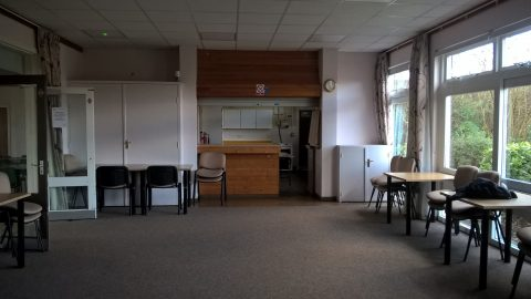 View of the Village Hall Lounge from the main entrance hall