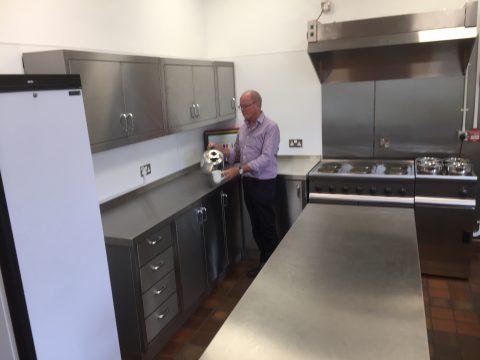 Photo of Village Hall Lounge Bar Servery Kitchen - fridge, range cooker