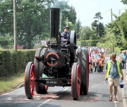 Steam Traction Engine in the Goostrey Rose Festival Parade