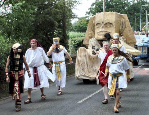 Egyptian themed Goostrey Rose Festival Float